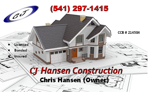 CJ Hansen Construction, Coos Bay North Bend Logo