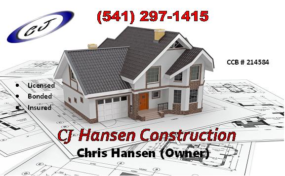 CJ Hansen Construction, Coos Bay North Bend Logo